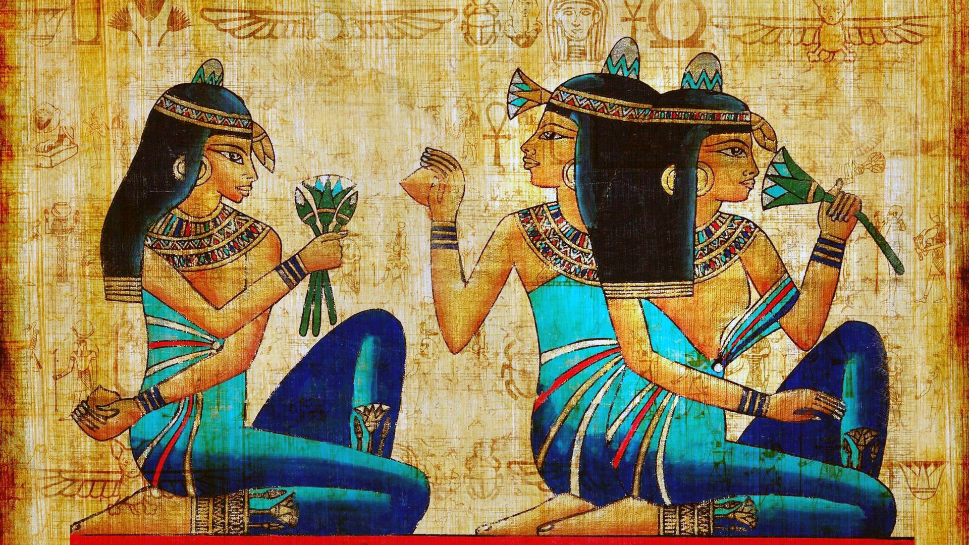 HDoboi.Kiev.ua - Египетский рисунок на папирусе, обои на телефон андроид живопись, искусство, арт