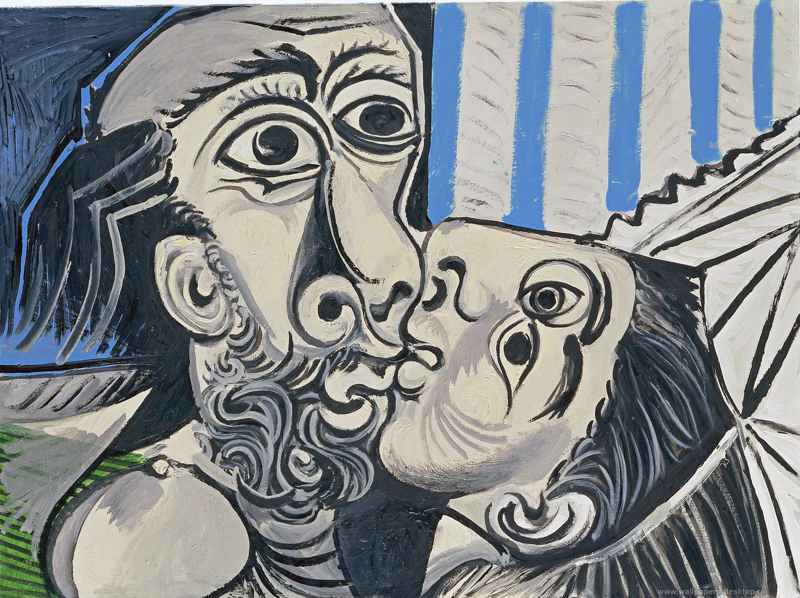 HDoboi.Kiev.ua - Поцелуй Пикассо, картина, обои на телефон компьютер, искусство, арт, живопись