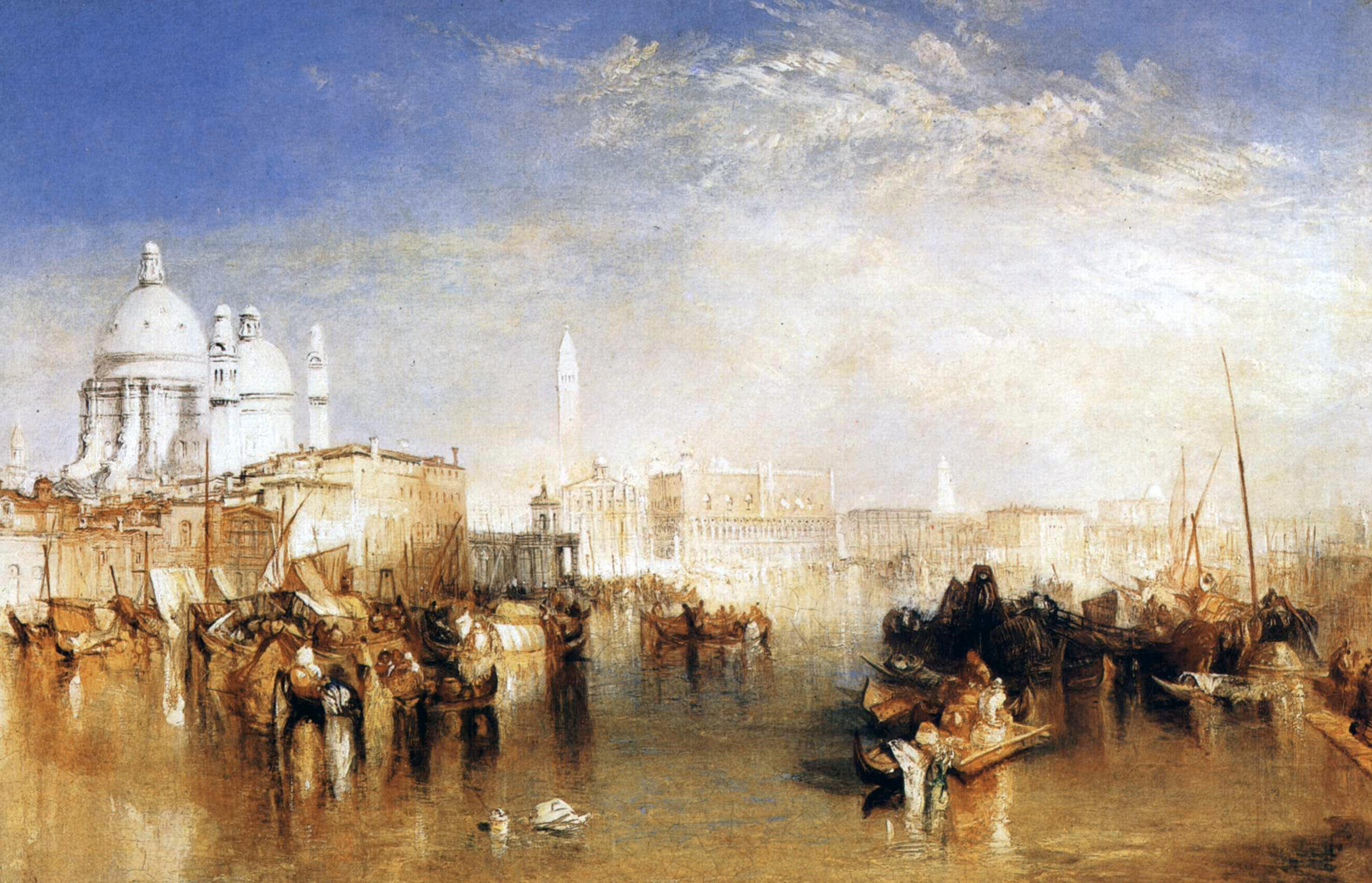 HDoboi.Kiev.ua - Венеция, вид с канала Джудекка (1840 - Вильям Тернер)
