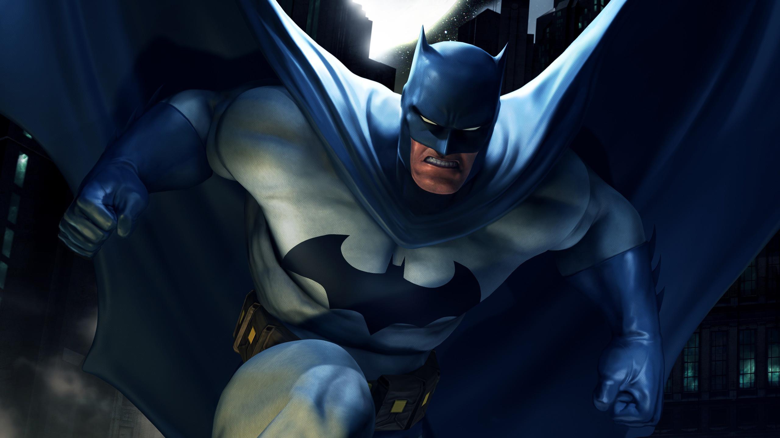 Бэтмен арт обои, кино заставки, мульфильм, Batman, dc universe, 2560 на 1440 пикселей