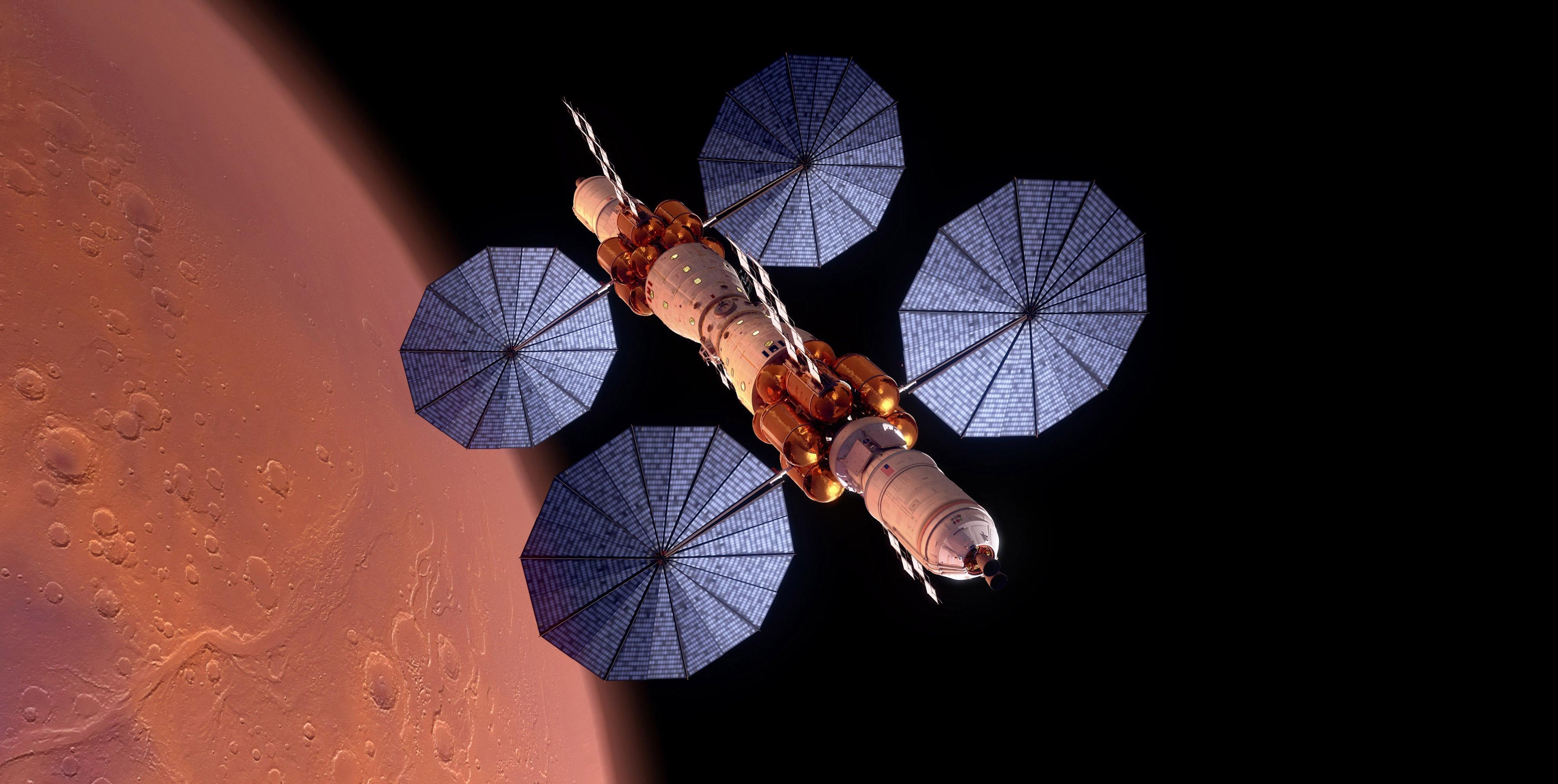Космическая станция в космосе, марс, спутник, галактика ultra hd 4k, 3973 на 2000 пикселей