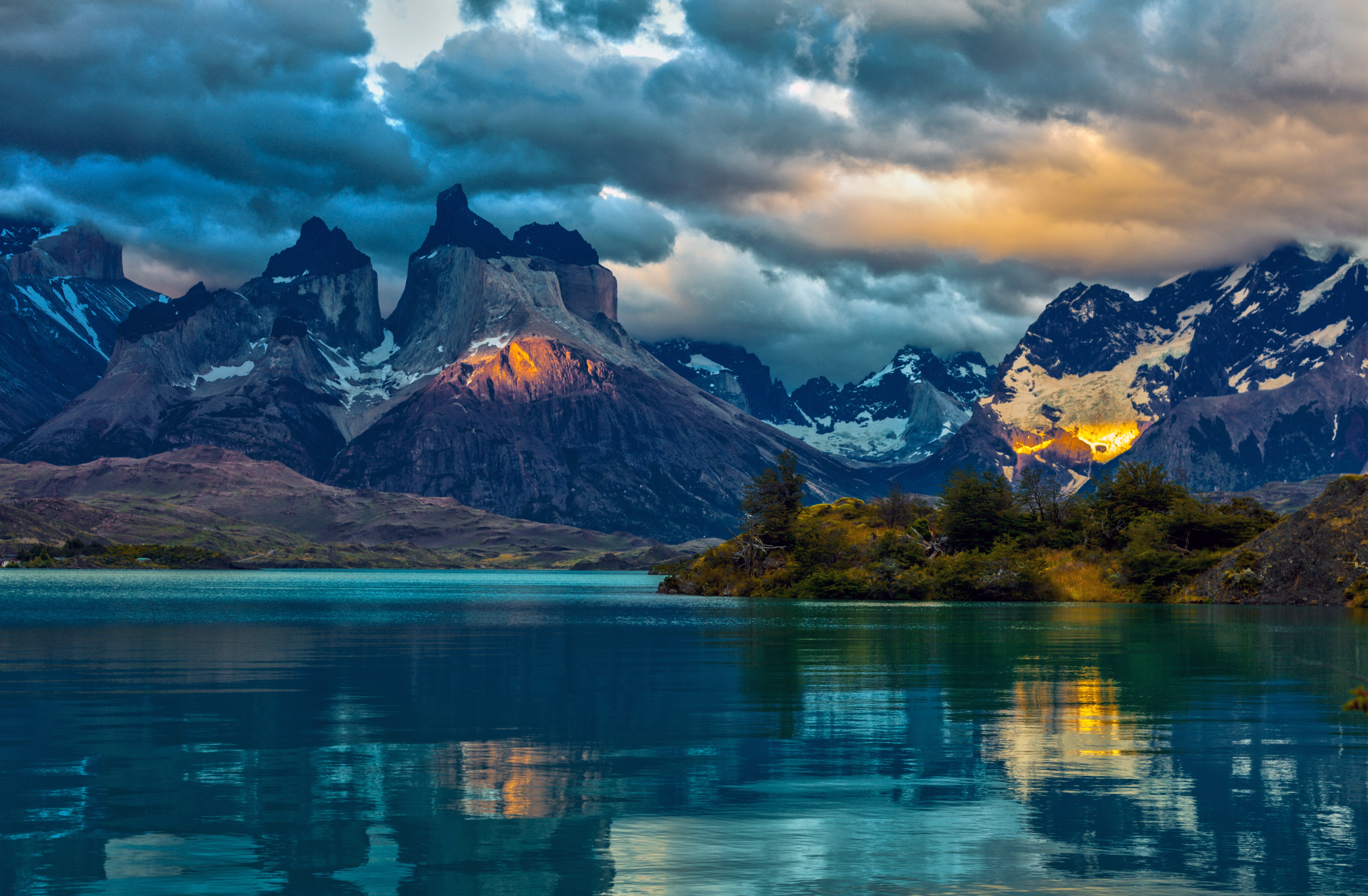 Горный пейзаж в аргентинских горах, фон на рабочий стол андроид, 3264 на 2139 пикселей