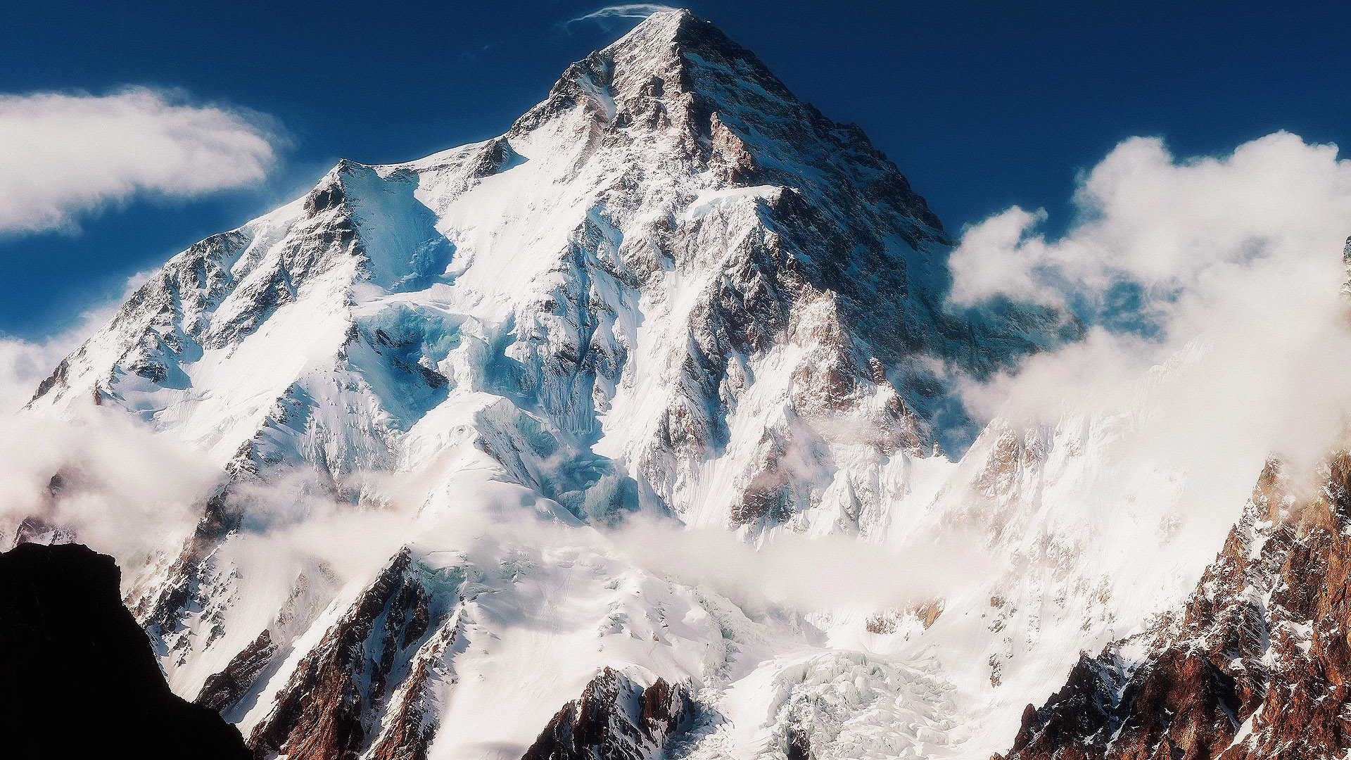 Гора Чогори К2, обои на телефон андроид горы, 1920 на 1080 пикселей