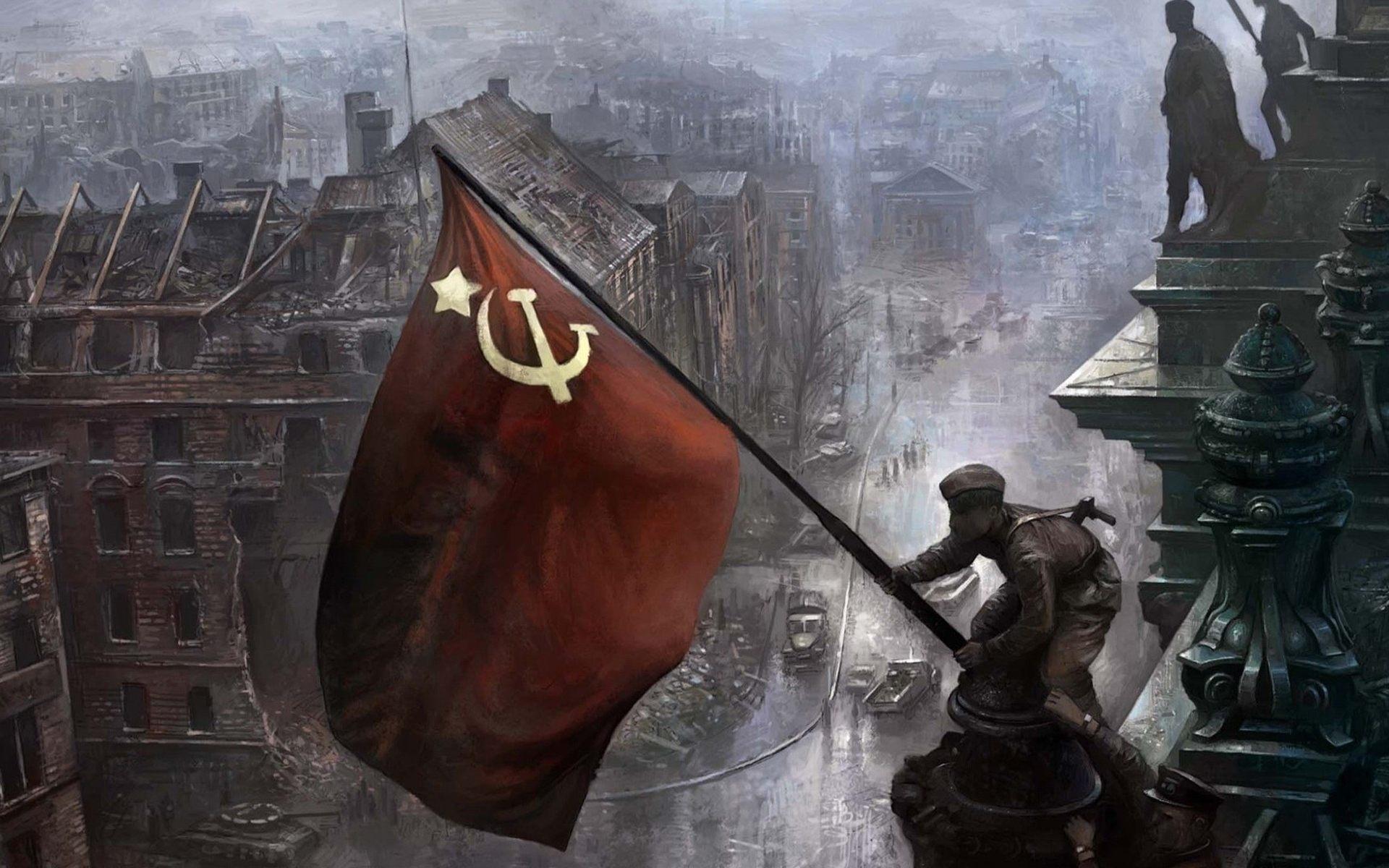 Флаг СССР в День Победы, 1920 на 1200 пикселей