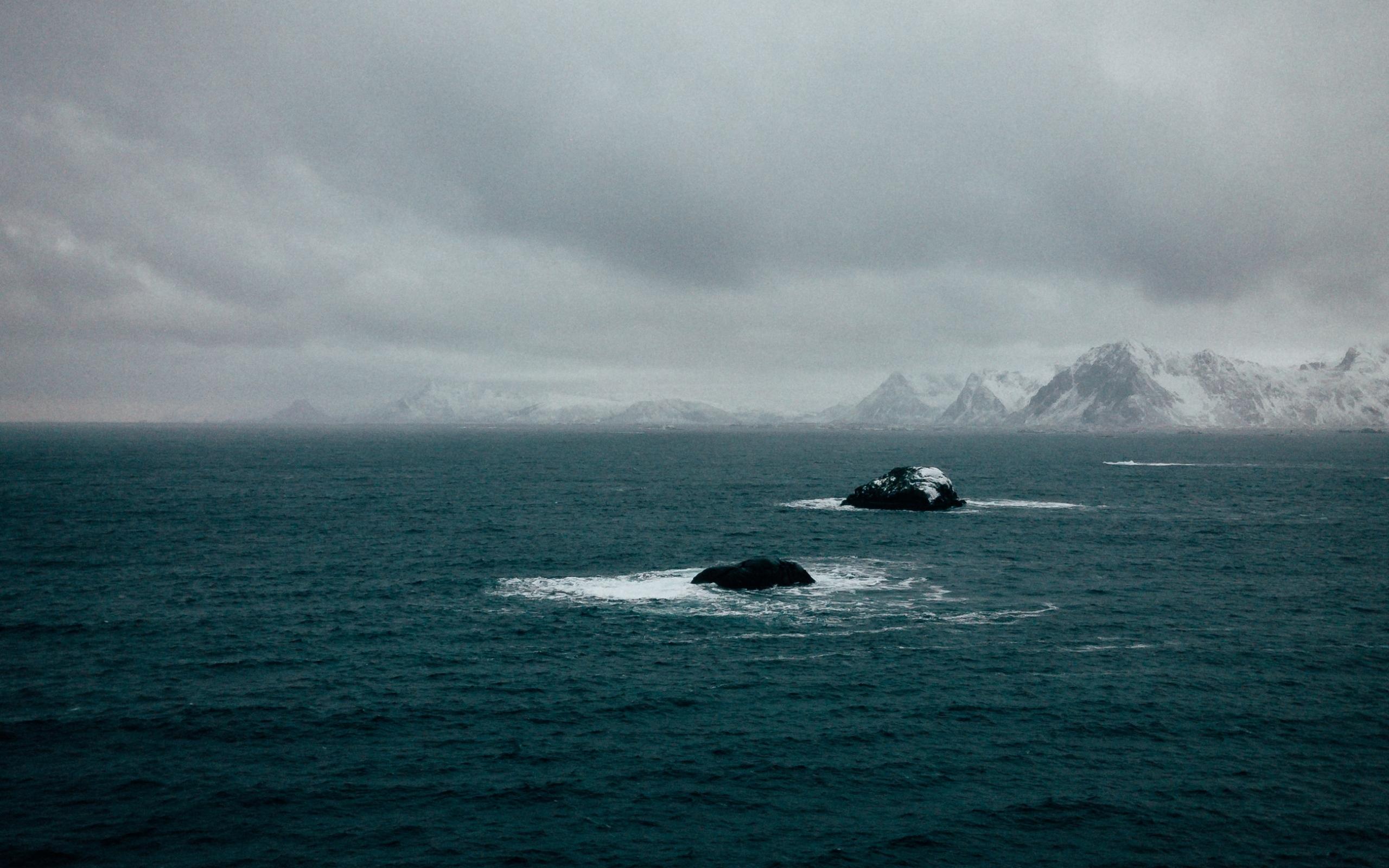 Холодное море Антарктики, обои для рабочего стола море океан, 2560 на 1600 пикселей