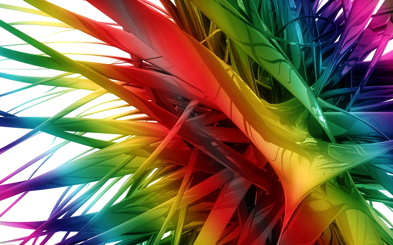 Цифровая абстракция в виде радуги, обои на самсунг абстракция, 3д графика, 2880 на 1800 пикселей