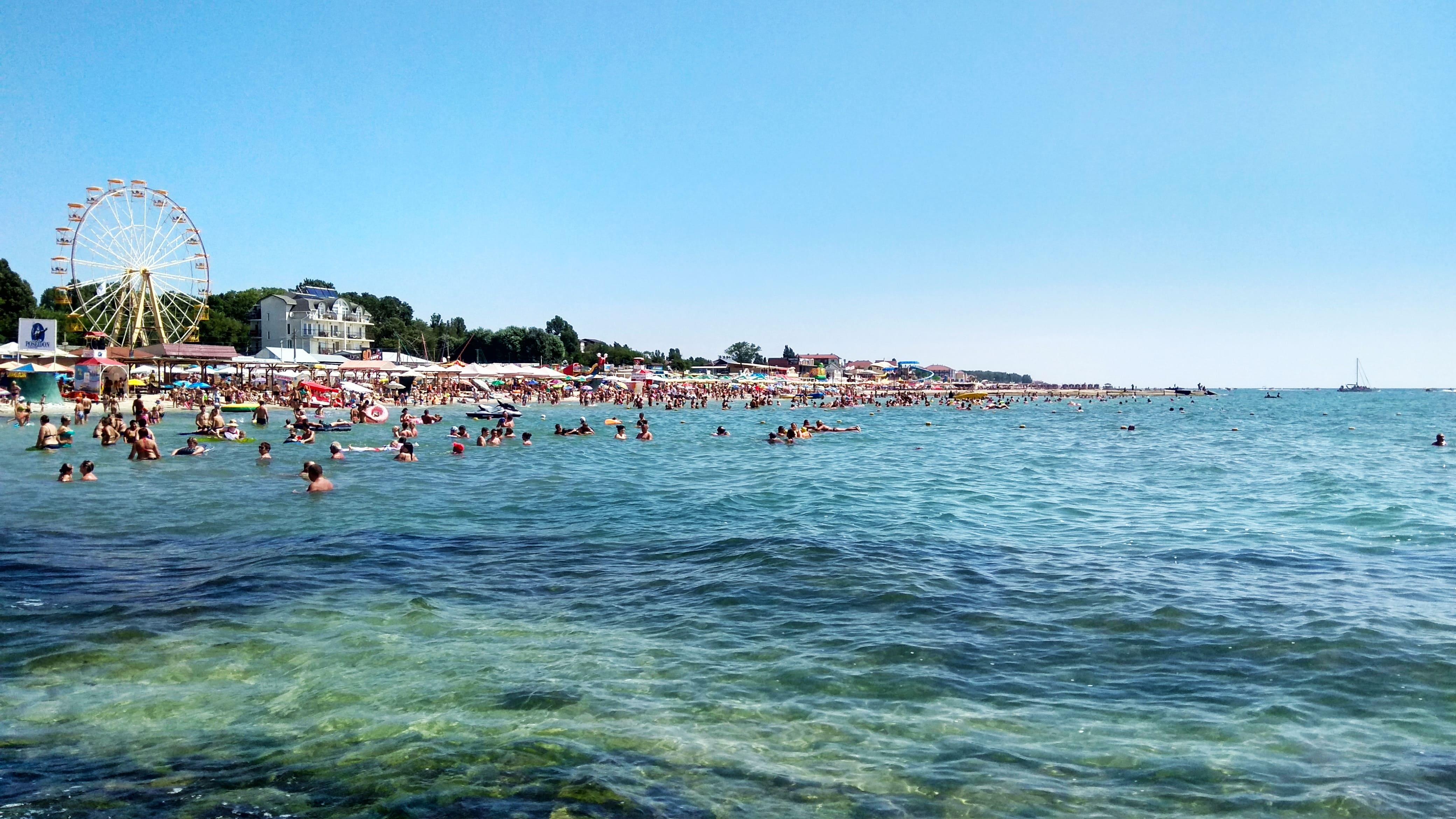 Курортный городок на Черном море, Железный Порт, 4k Ultra HD, 4160 на 2340 пикселей