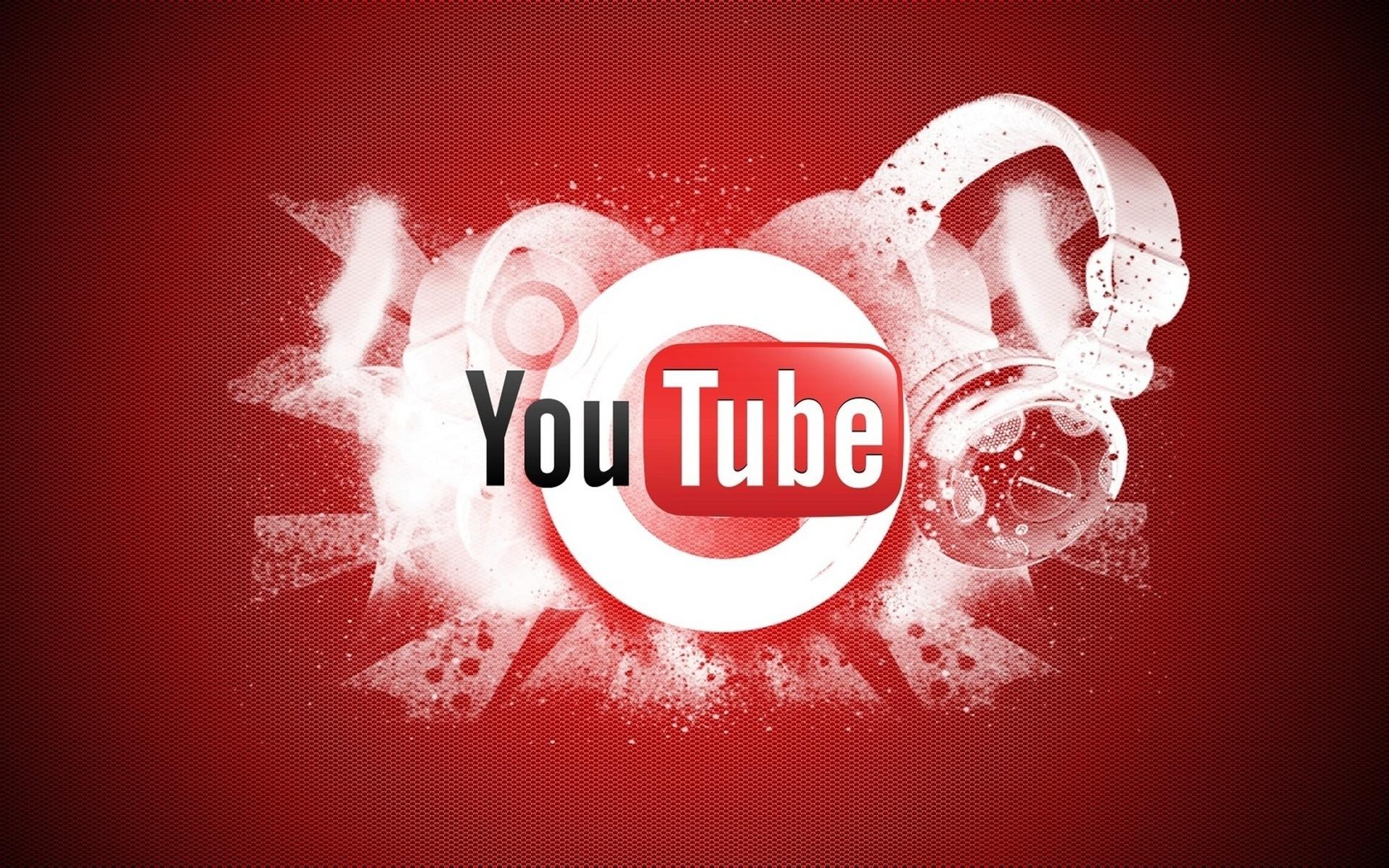 Youtube логотип, широкоформатные hd обои на рабочий стол, 1920 на 1200 пикселей