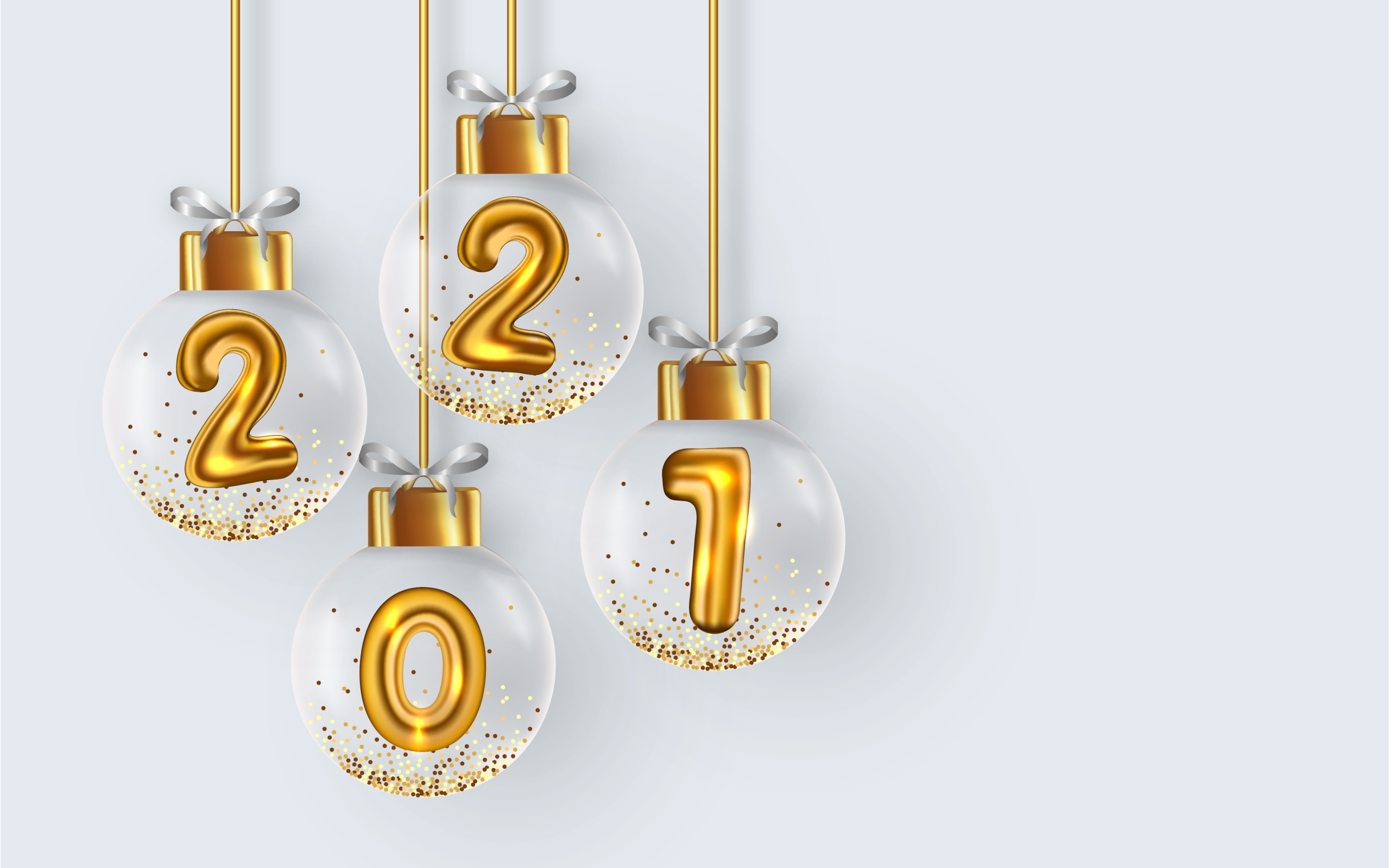 HDoboi.Kiev.ua - Новогодние шарики с цифрами 2021 внутри, Новый Год 2021