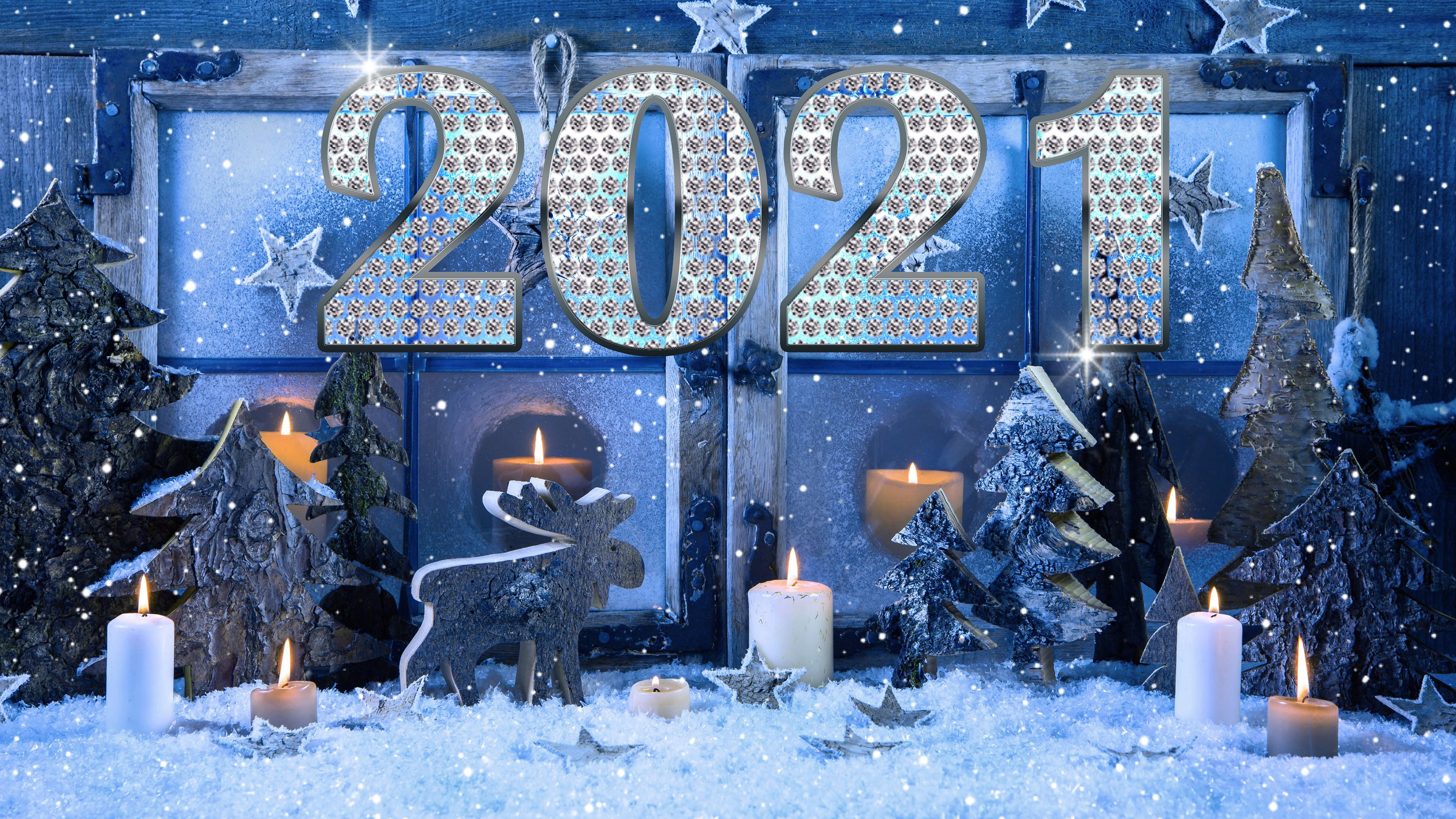 HDoboi.Kiev.ua - Новогодний декор к Новому 2021 году, обои про Новый год 2021