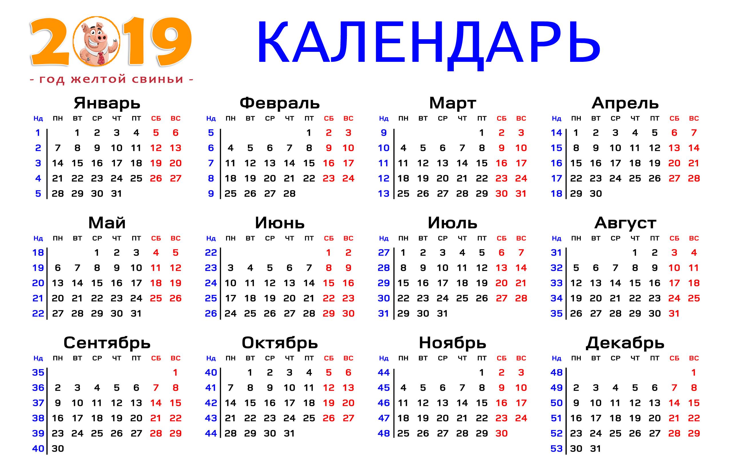 Календарь 2019, фон на рабочий стол ноутбука, 2560 на 1600 пикселей