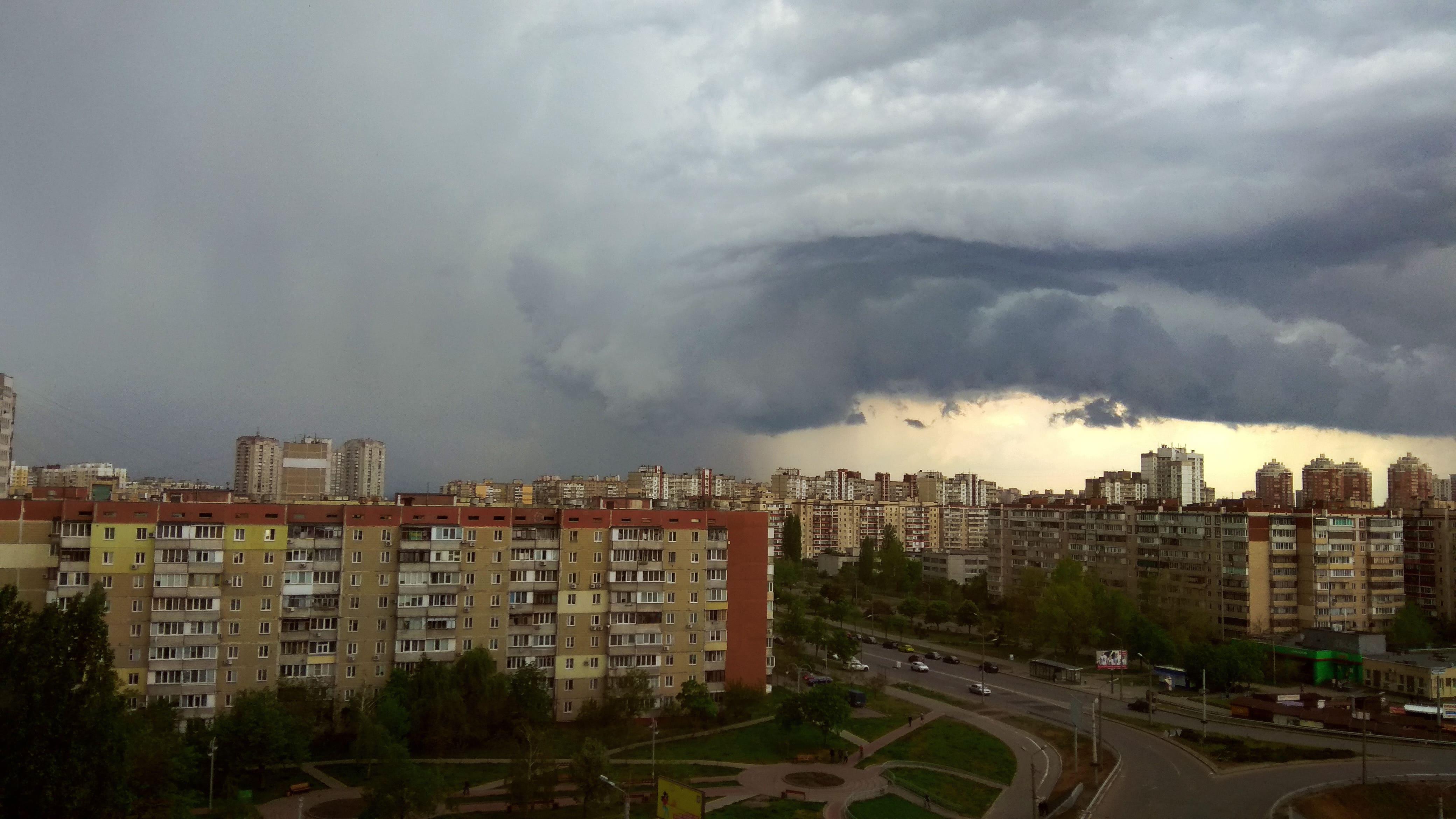 HDoboi.Kiev.ua - Грозовые облака над домами, природа, тучи