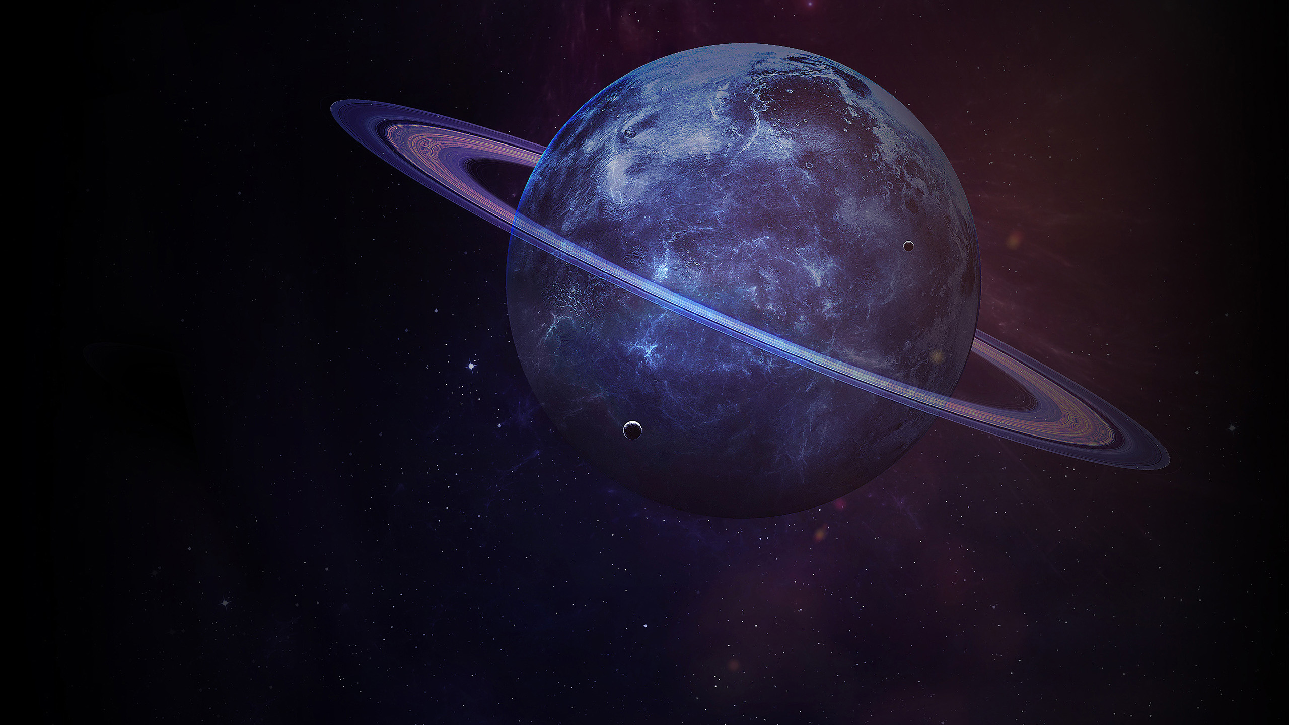 HDoboi.Kiev.ua - Сатурн с кольцами - большая планета солнечной системы