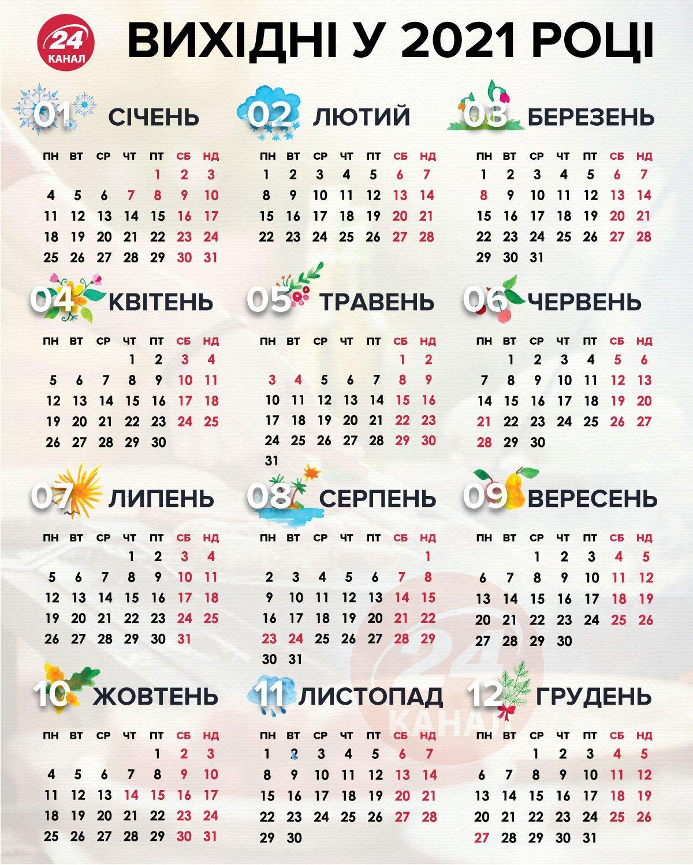 HDoboi.Kiev.ua - Календарь на 2021 Україна