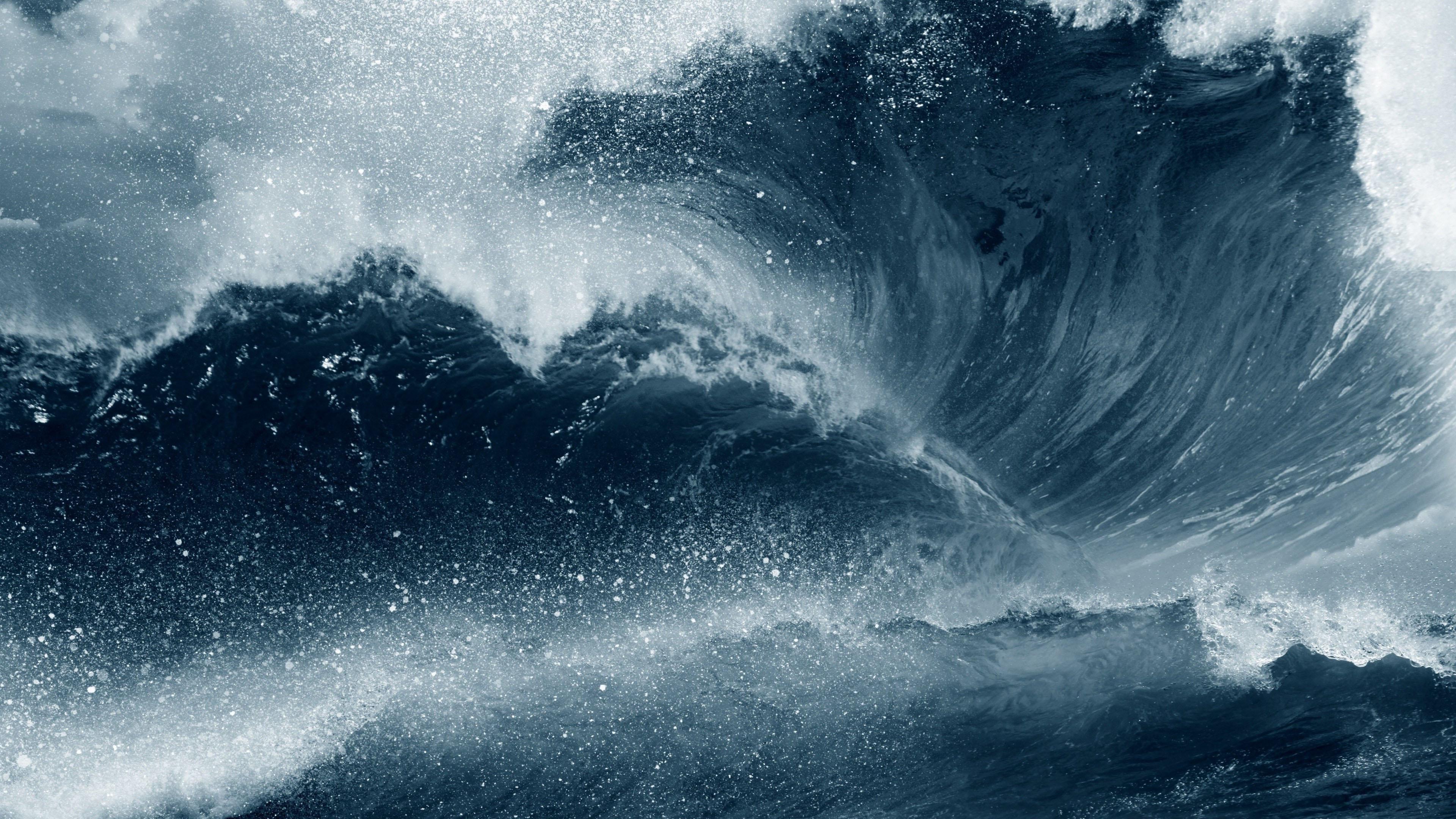 обои морская волна фото, природа, море, пена, 4k ultra hd, 3840 на 2160 пикселей