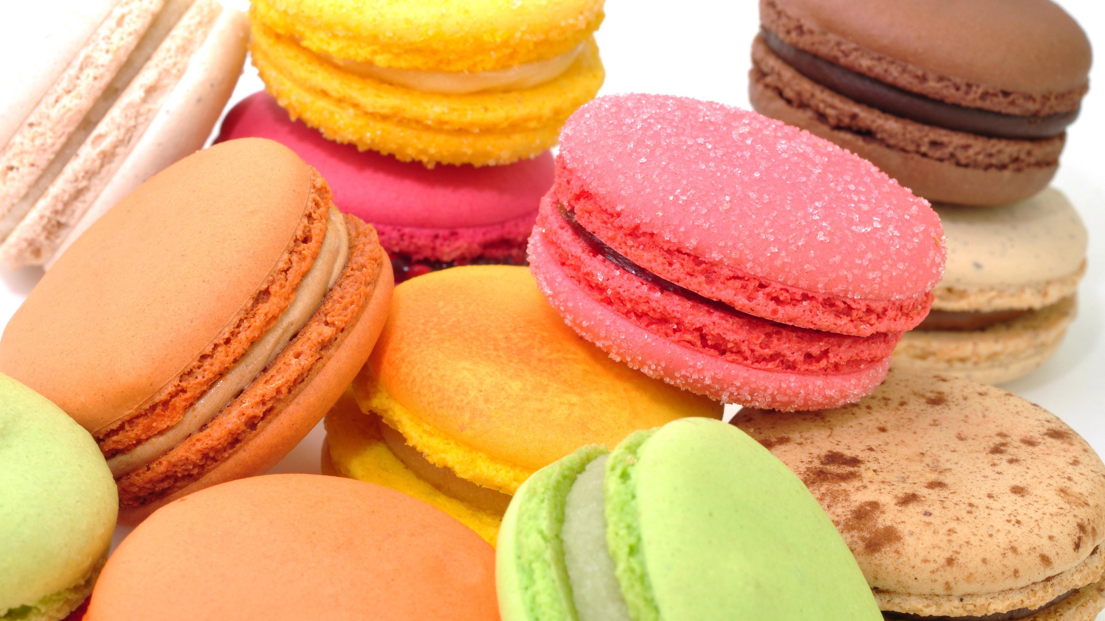 Десерт Макаронс, hd обои еда, 3840 на 2160 пикселей