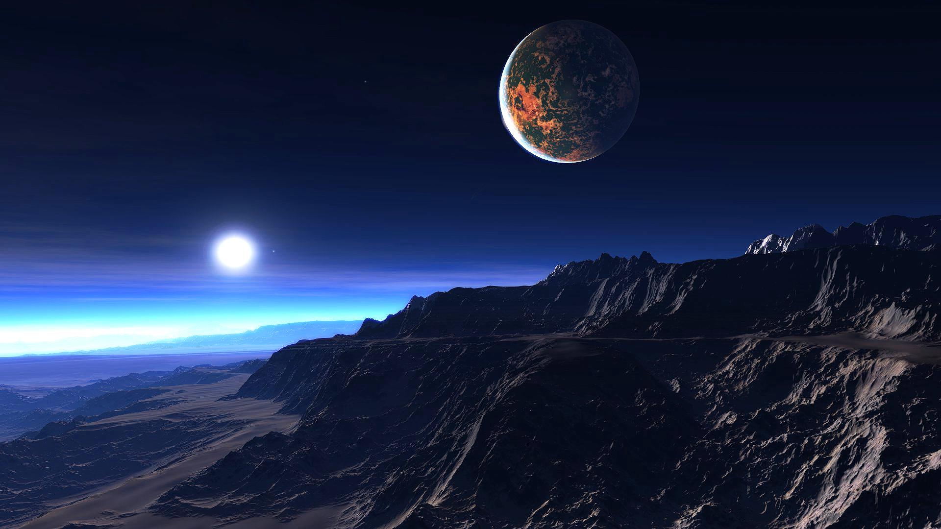 Экзопланета в атмосфере, обои на хонор космос, 1920 на 1080 пикселей
