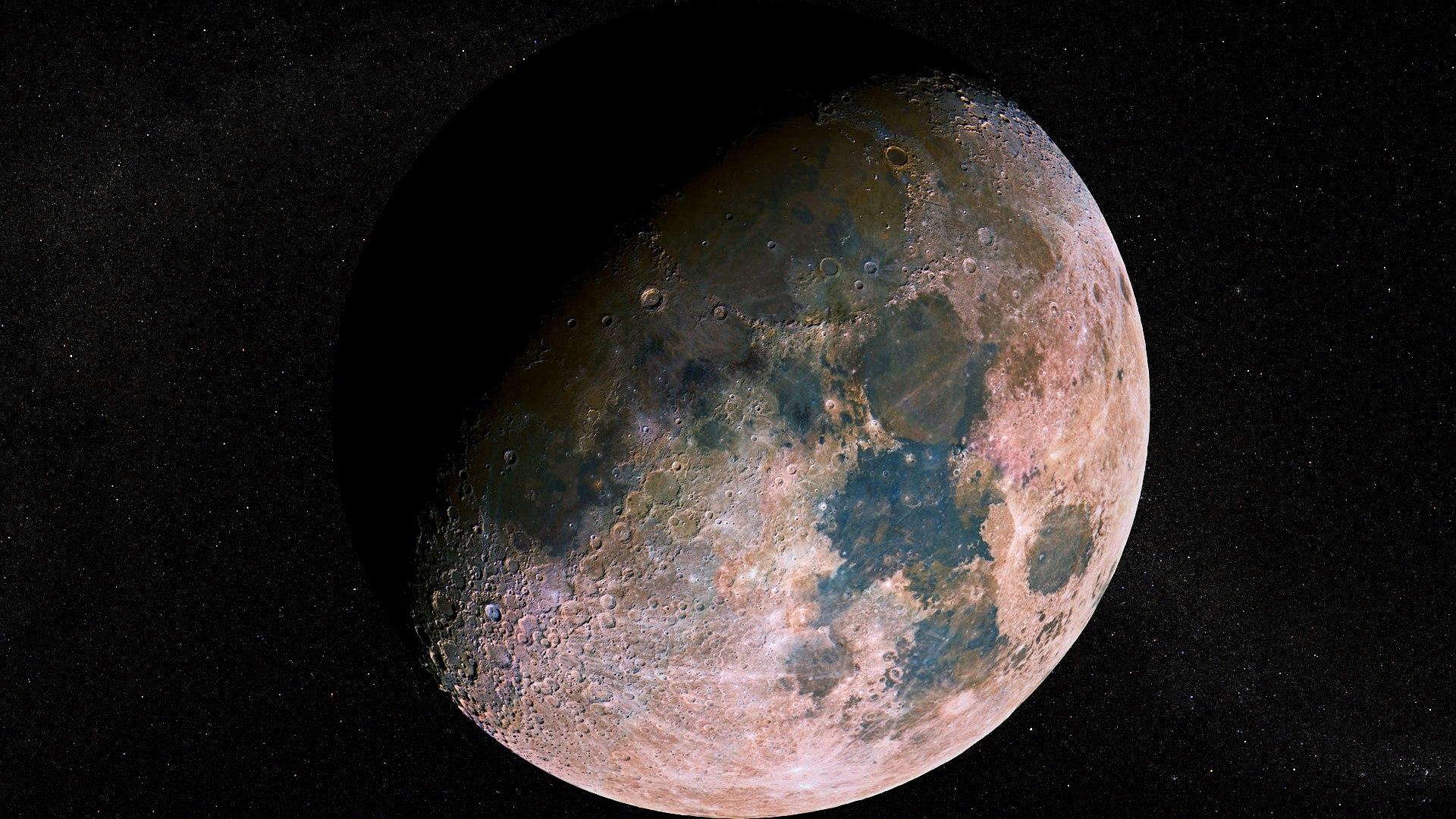 космос обои луна, галактика, вселенная, 1920 на 1080 пикселей