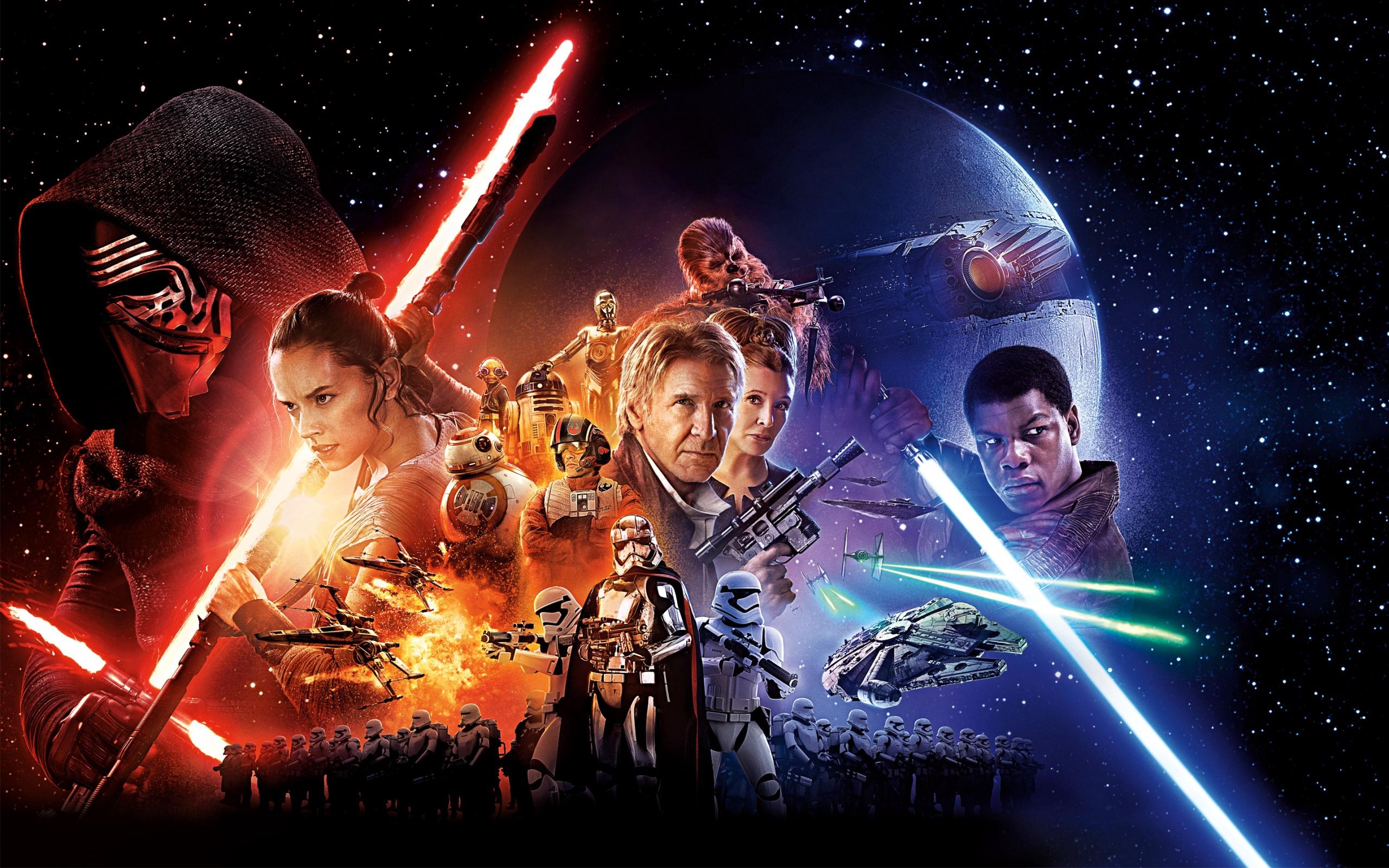 Звездные Войны: эпизод 7, обои со звездными войнами, Star Wars Episode VII, 2560 на 1600 пикселей