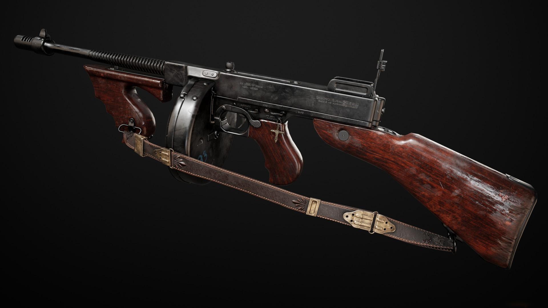 Автомат Томпсона, Gun thompson m1928, оружие фото обои, 1920 на 1080 пикселей