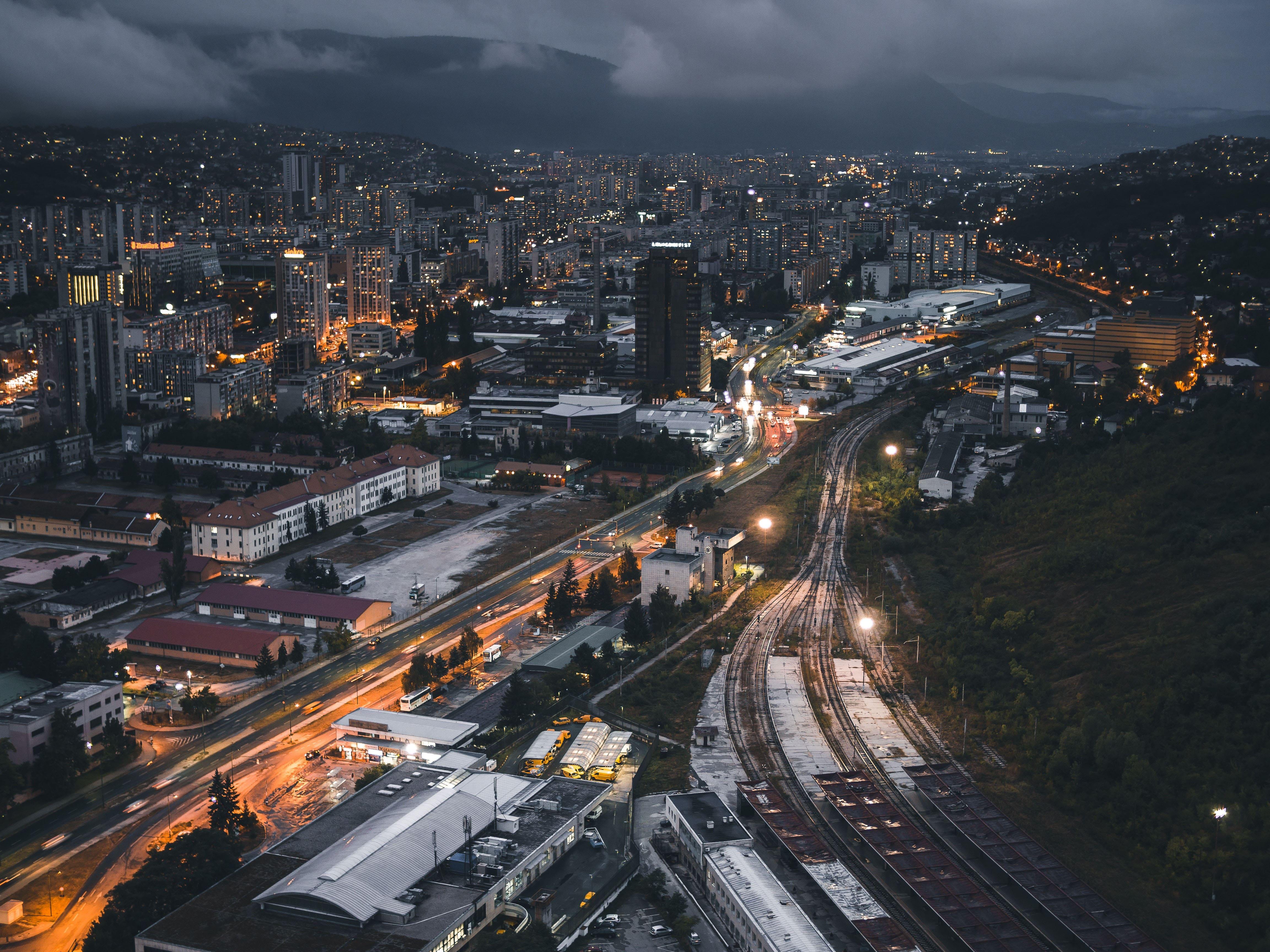 HDoboi.Kiev.ua - Ночной город вид сверху