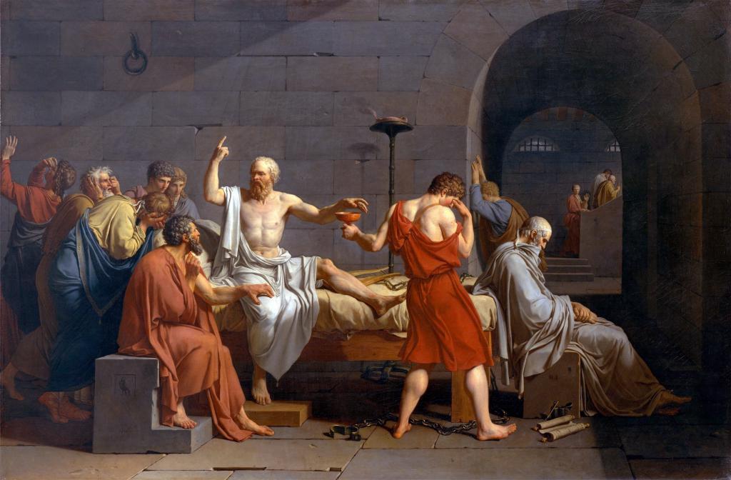 Давид Смерть Сократа, поп арт обои на рабочий стол, искусство, живопись, 3056 на 2008 пикселей