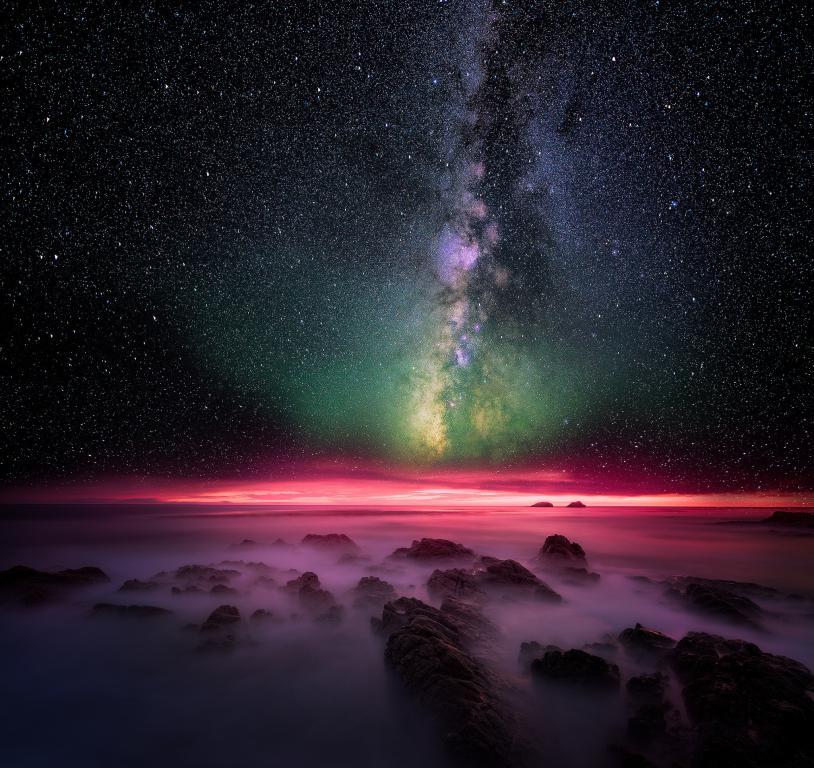 Млечный путь - звезды 4k, космос, вселенная, 2048 на 1930 пикселей