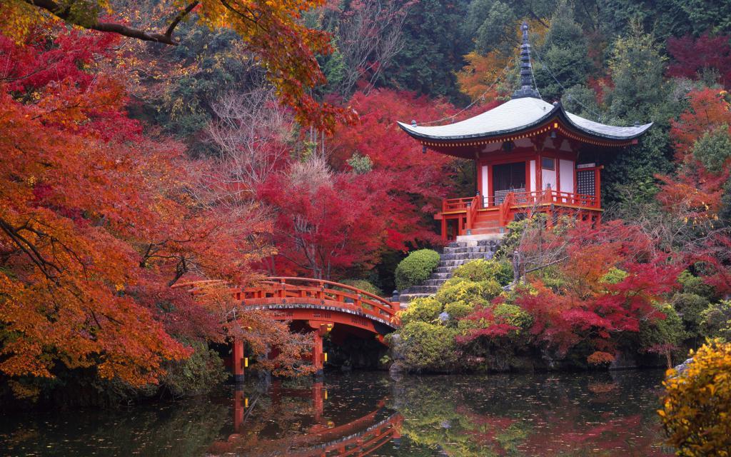 Красный японский сад, обои на телефон самсунг природа, 3840 на 2400 пикселей