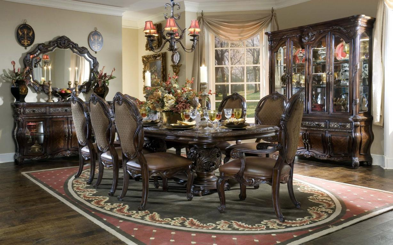 Столовая в ретро стиле, интерьер, обеденный зал, 1920 на 1200 пикселей