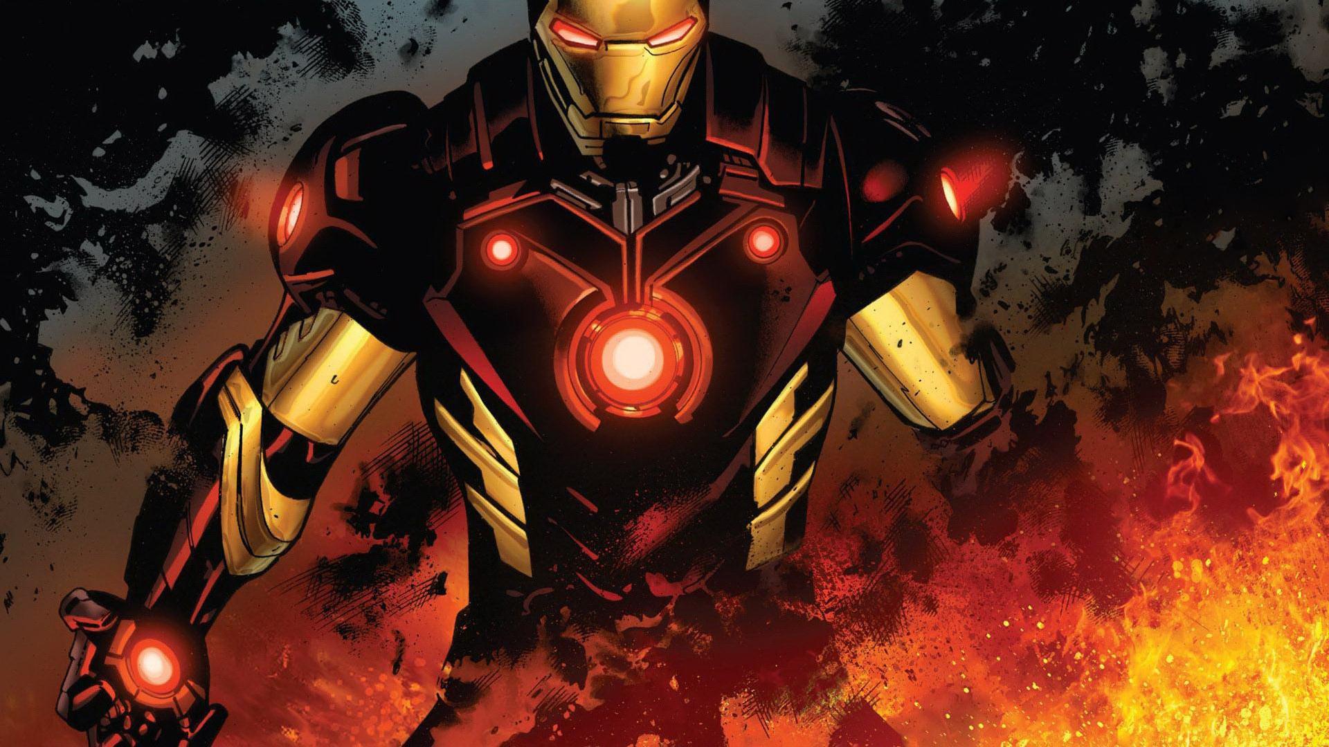Железный человек обои full hd, супергерой, Тони Старк, марвек комиксы, 1920 на 1080 пикселей