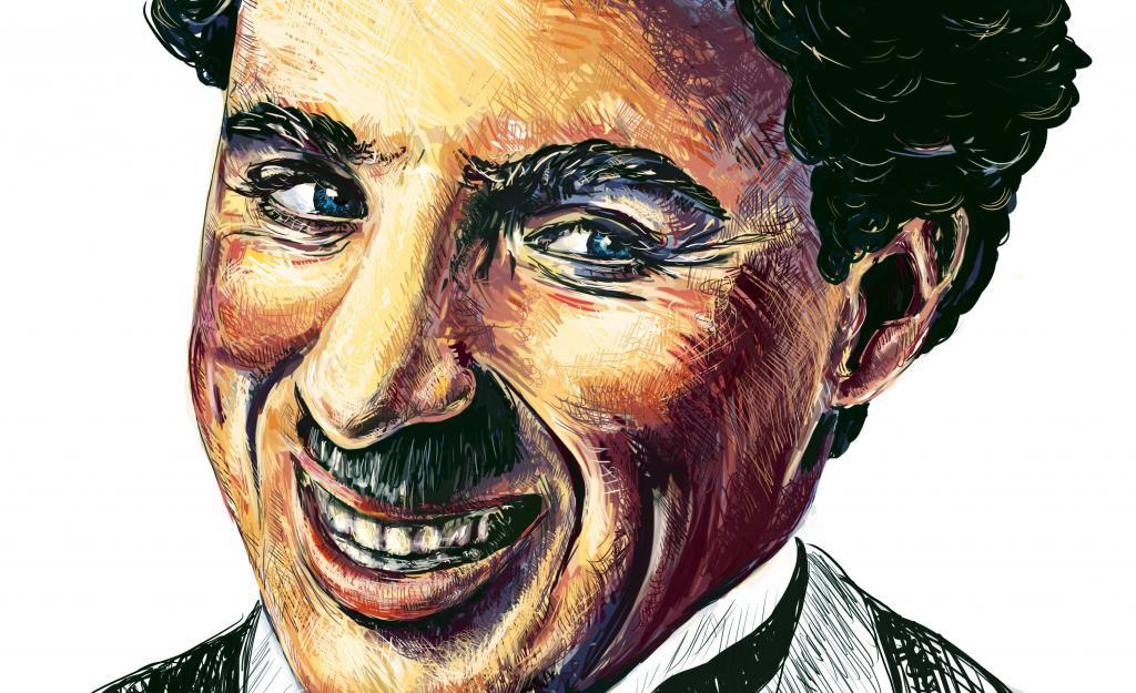 картинки знаменитостей карандашом, Чарли Чаплин, мужчина обои, Charlie Chaplin, 3148 на 1923 пикселей