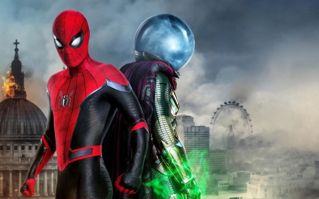 Человек паук вдали от дома фильм обои и Мистерио, ultra HD 4k, 3360 на 2100 пикселей