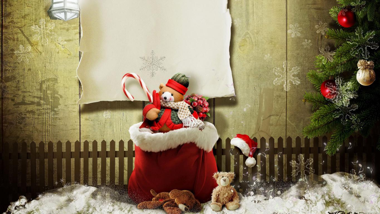 Мешок игрушек на Рождество 2020, рождественские обои на смартфон, 3840 на 2160 пикселей