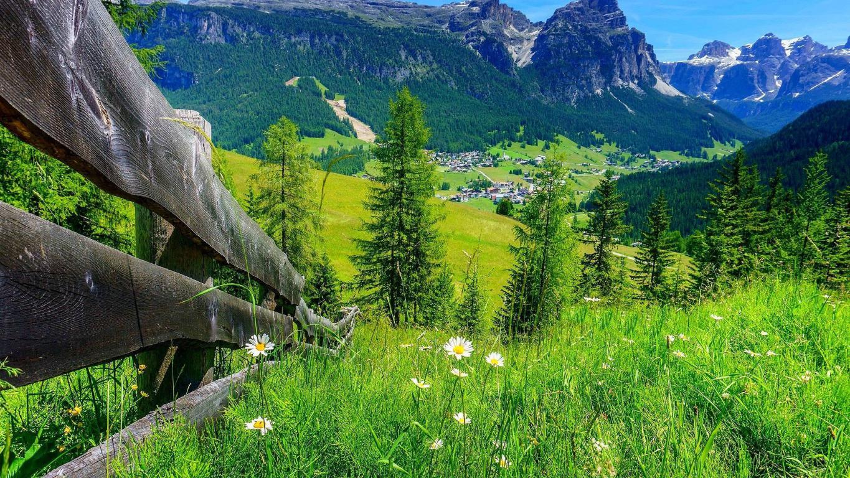 Красивый горный ландшафт весной, горы обои full hd, 1920 на 1080 пикселей