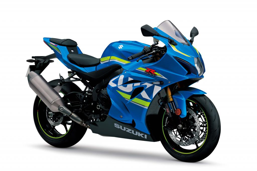 Синий гоночный мотоцикл Suzuki GSX-R1000, ultra hd 6k заставка, 6048 на 4032 пикселей