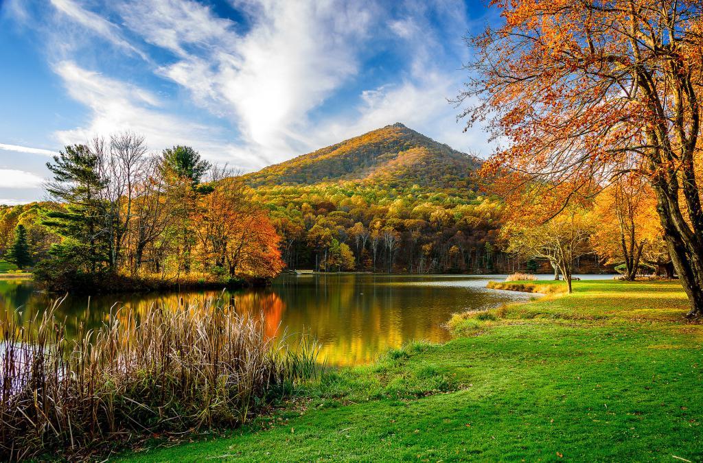 Осенний горный пейзаж, осенние картинки рисунки, 3000 на 1980 пикселей