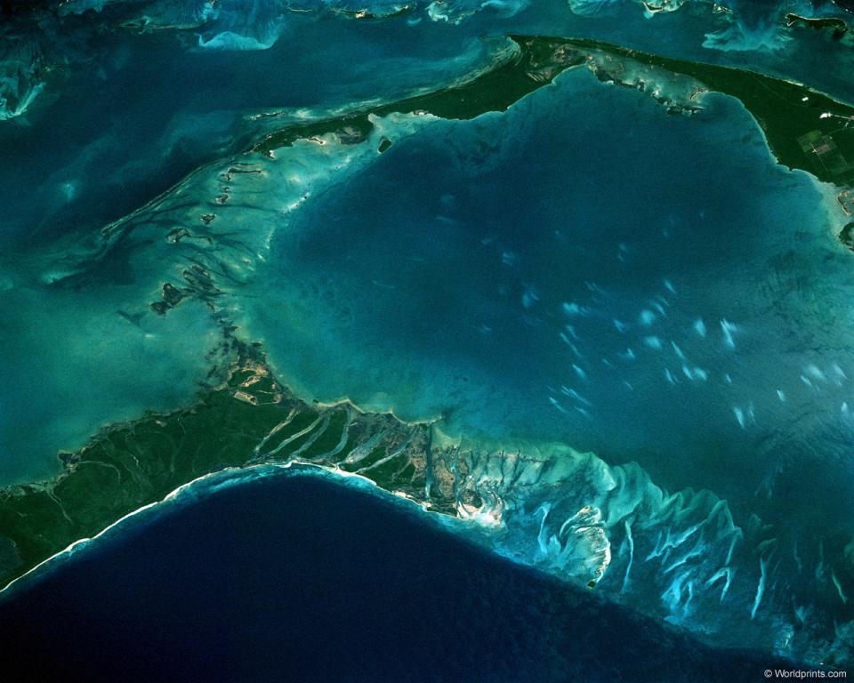 Лагуна Бора Бора вид из космоса, iphone 6 обои море, 1280 на 1024 пикселей