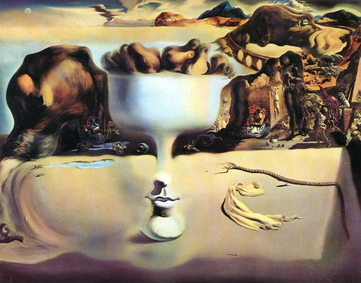 Сальвадор Дали - Явление лица, живопись обои iphone, искусство, арт, 2002 на 1568 пикселей