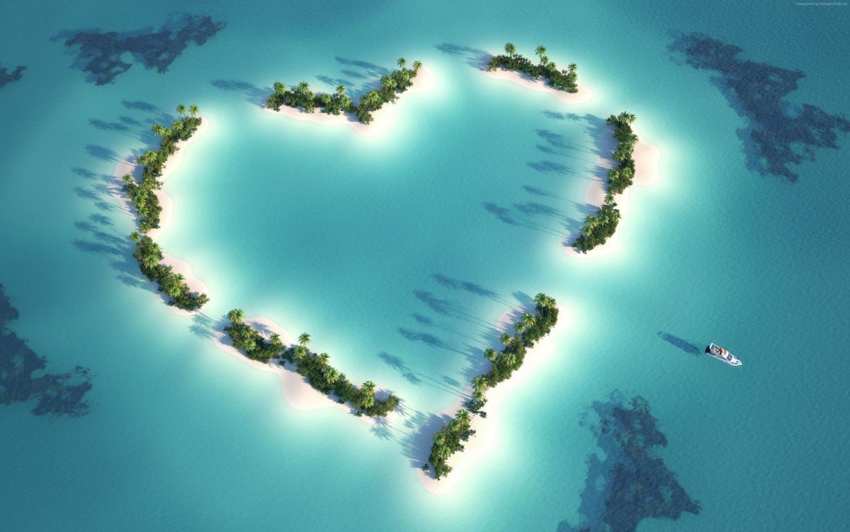 Мальдивские острова в Индийском океане, 3840 на 2400 пикселей