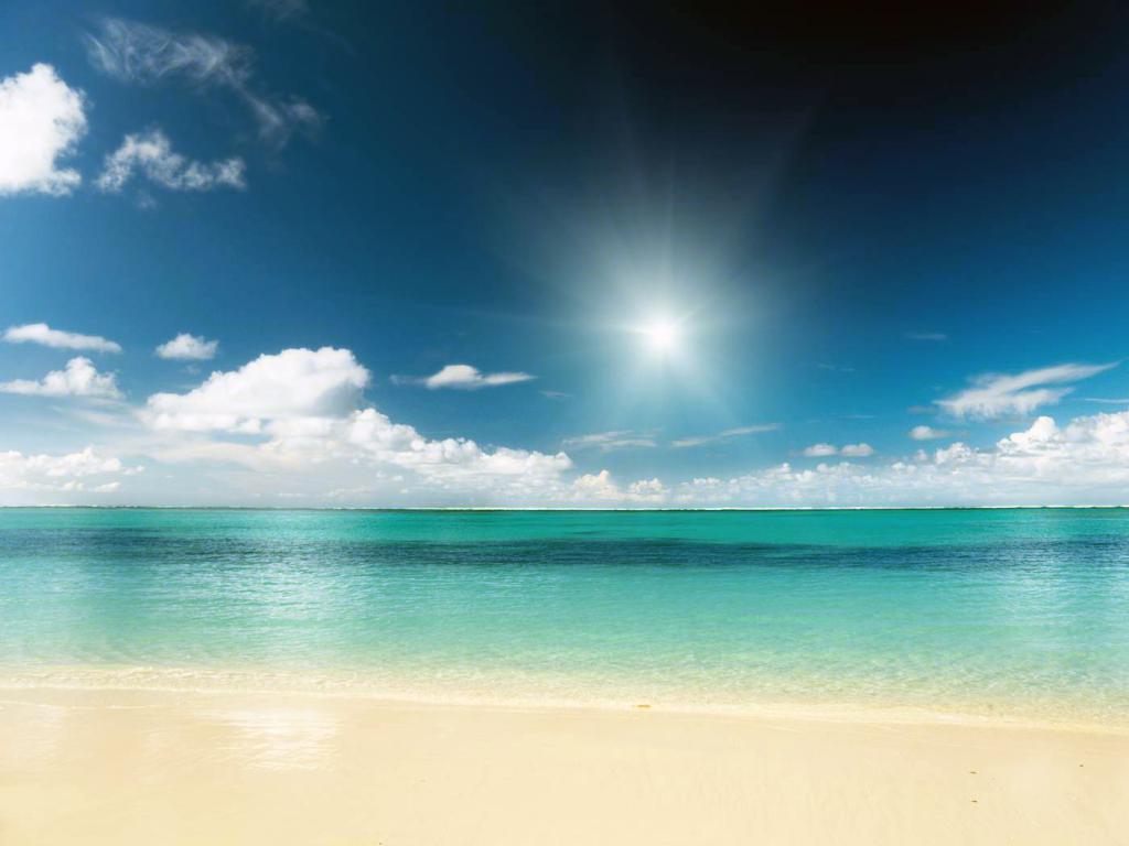 Карибское море, пляж, солнце, песок, 1400 на 1050 пикселей