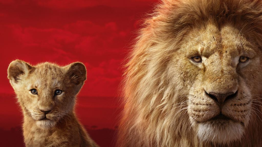 Король Лев обои на айфон 2019, два льва, 5120 на 2880 пикселей
