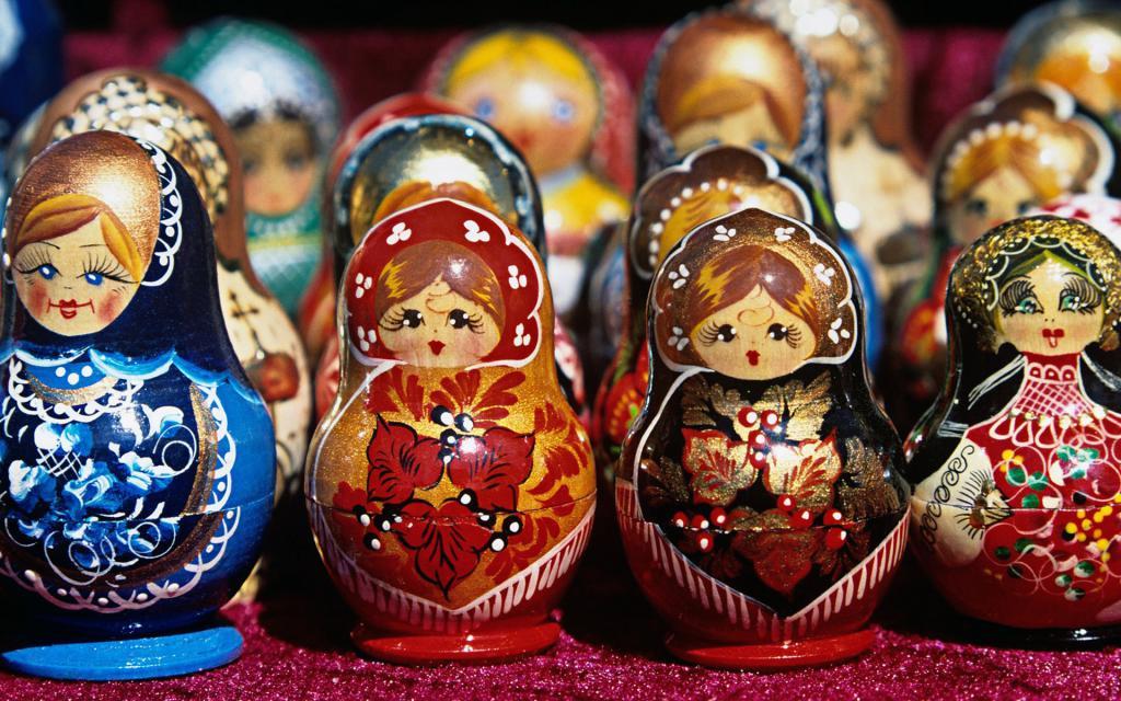Русские матрешки, 1920 на 1200 пикселей