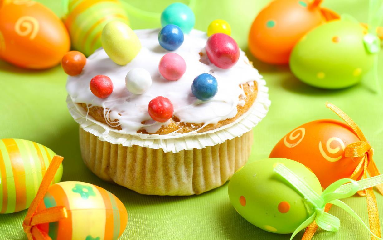 Аппетитный кулич с яйцами, обои на смартфон Пасха, 3840 на 2400 пикселей