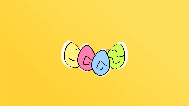 Цветные яйца, 2560 на 1440 пикселей