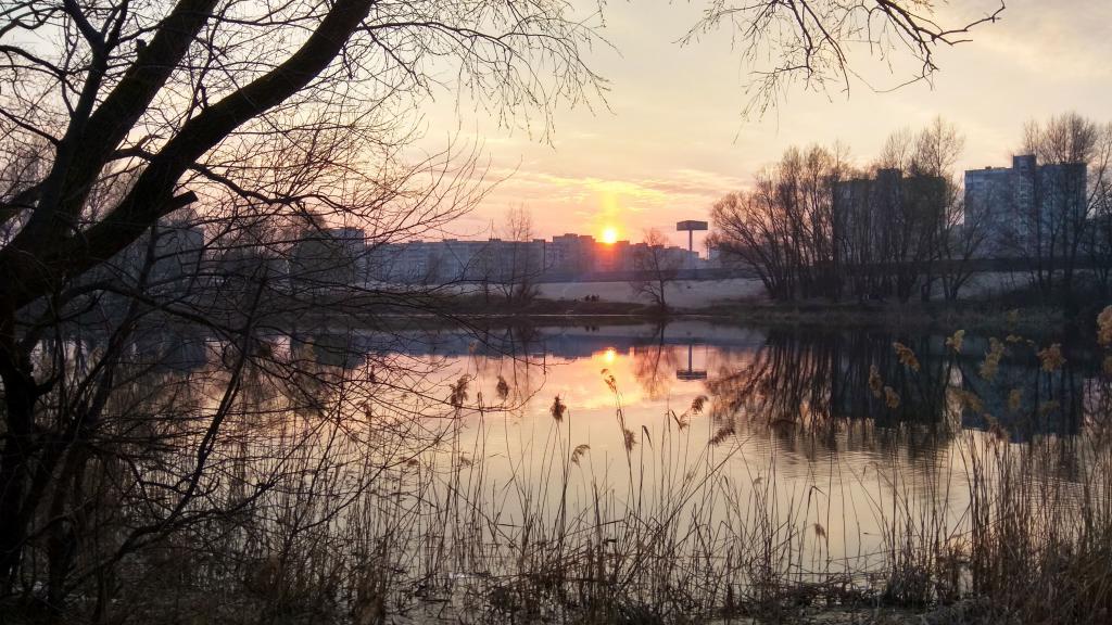 Красивый закат в городе Киев, 4k Ultra HD, скачать пейзажи природы обои, 4160 на 2340 пикселей