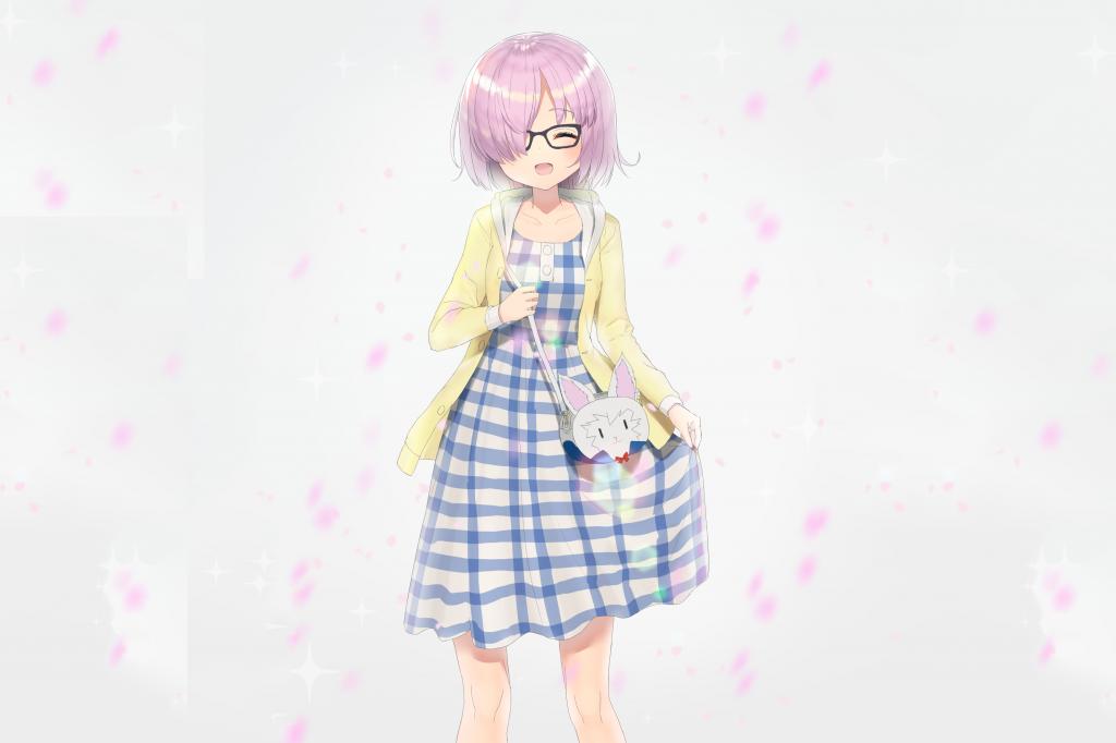 Девушка с кроликом, аниме обои iphone, судьба, заставки ultra hd, 3718 на 2479 пикселей