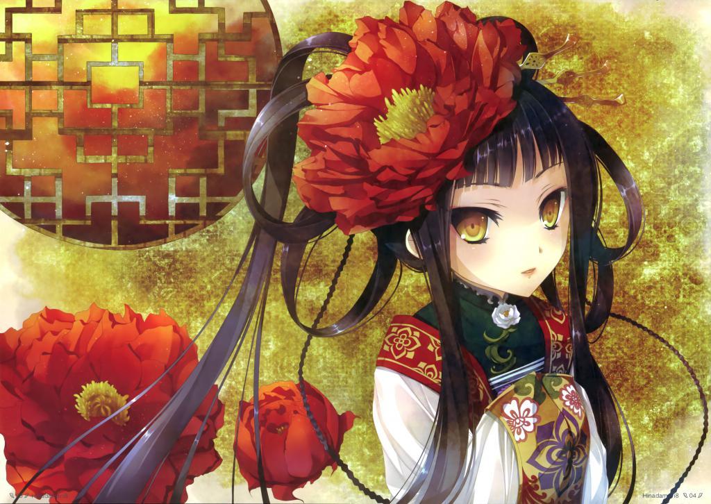 Katagiri hinata anime girl, классные аниме обои, 4935 на 3503 пикселей