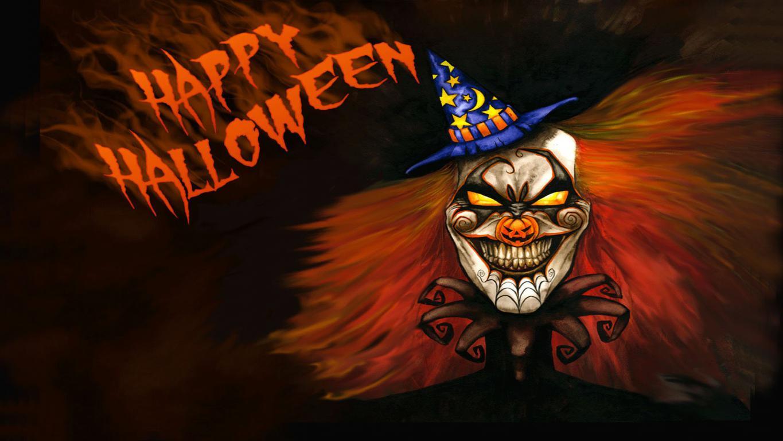 Хэллоуин обои на телефон айфон, страшный клоун, 1920 на 1080 пикселей