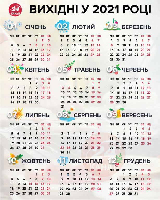 Календарь на 2021 Україна, 1200 на 1500 пикселей