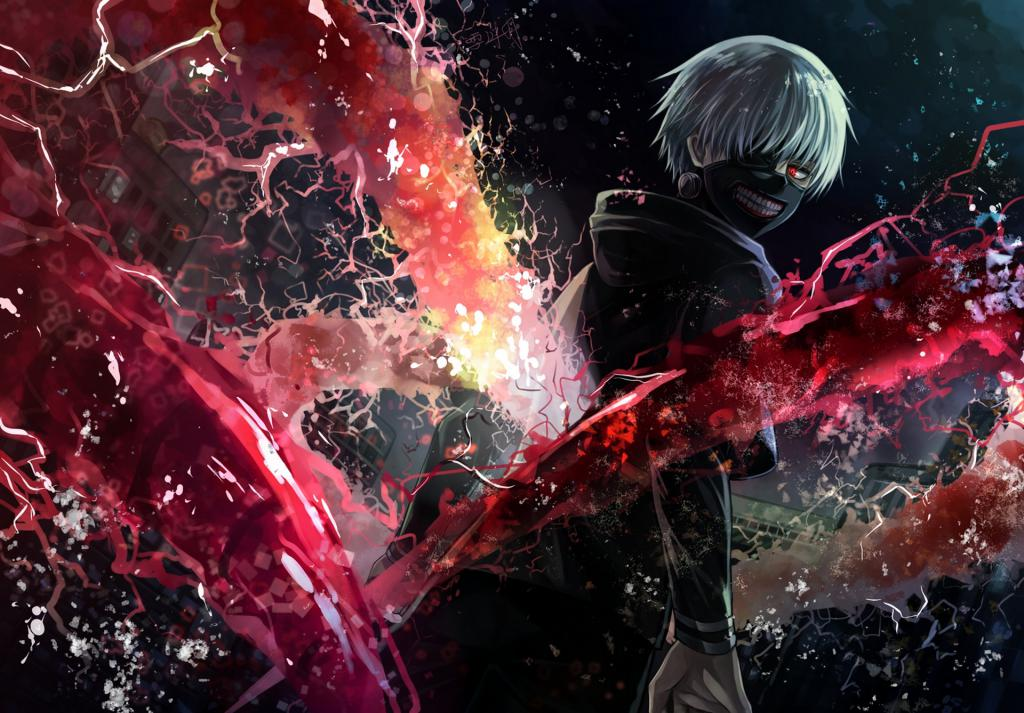 Аниме, хентай, anime Tokyo ghoul kaneki ken, anime wallpaper HD for pc, 1920 на 1338 пикселей